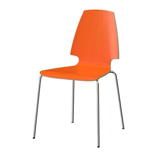 IKEA - VILMAR, Chair, The chair's melamine surface makes it durable and easy to keep clean.You can stack the chairs, so they take less space when you're not using them.