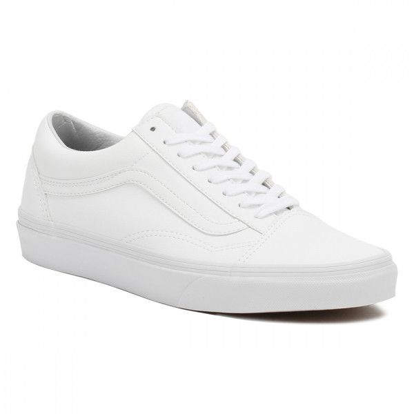 Vans Mens True White UA Old Skool Trainers ($78) ❤ liked on Polyvore featuring men's fashion, men's shoes, men's sneakers, mens white sneakers, mens white shoes, vans mens shoes, mens sneakers and mens lace up shoes