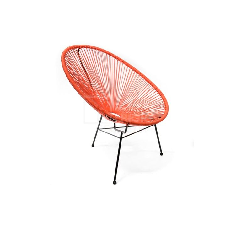 Acapulco Chair - Replica Wicker Outdoor Furniture - Orange