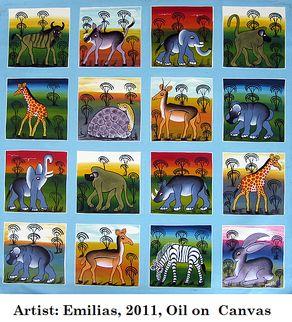 Tingatinga Paintings. Perfect illustrations for our Tinga Tale stories