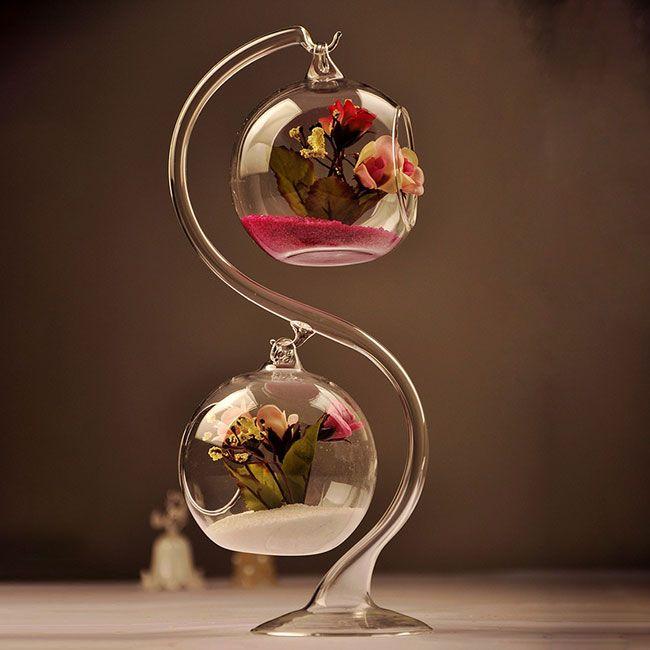 Потрясающие висячие вазы из прозрачного стекла #ВАЗЫ #СТЕКЛО #АКВАРИУМ #ТЕРРАРИУМ