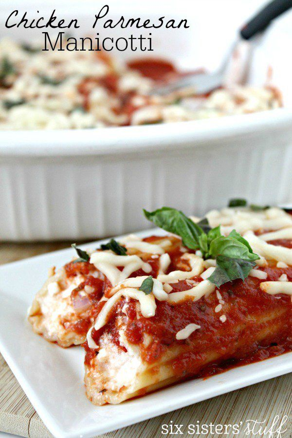 Chicken Parmesan Manicotti
