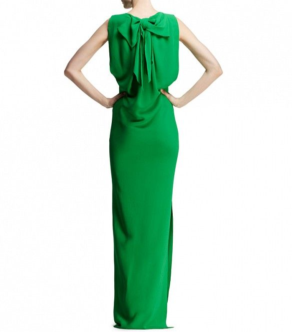 Dress for Women, Evening Cocktail Party On Sale, Green, Silk, 2017, 6 8 Lanvin