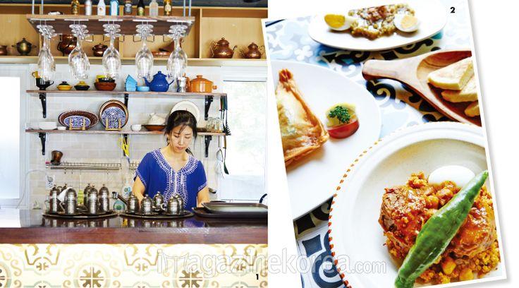 꾸스꾸스 | 1 튀니지 현지의 음식점에 온 듯한 착각을 불러일으키는  꾸스꾸스 2 메인 요리 꾸스꾸스로 이뤄진 푸짐한 한상 차림