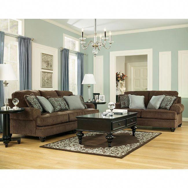 Crawford Chocolate Living Room Set Signature Design By Ashley In Living Room Sets Ri Brown Living Room Brown Couch Living Room Living Room Decor Brown Couch