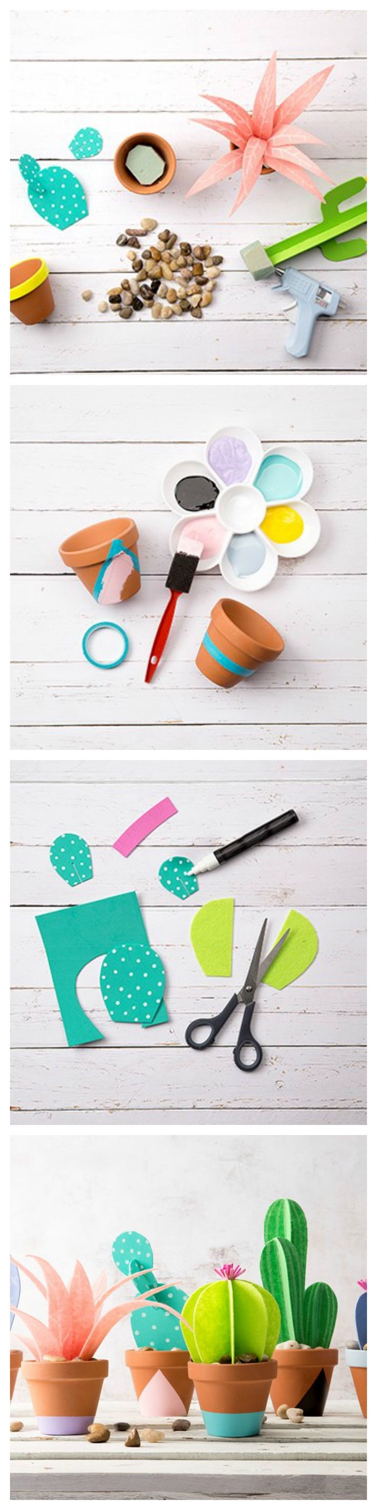 147 best home decor images on pinterest craft projects home then a diy paper cactus planter is perfect