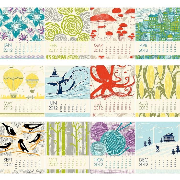 2012 Paper Source Letterpress Desk Calendar - Paper Source