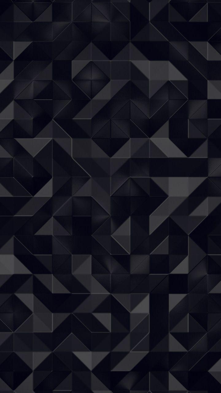 Dark, triangles, abstract, pattern, 720x1280 wallpaper  Papel de