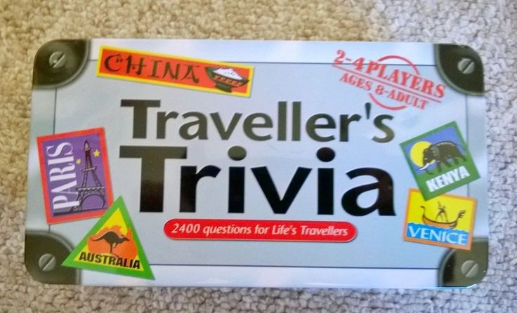 Travellers Trivia game