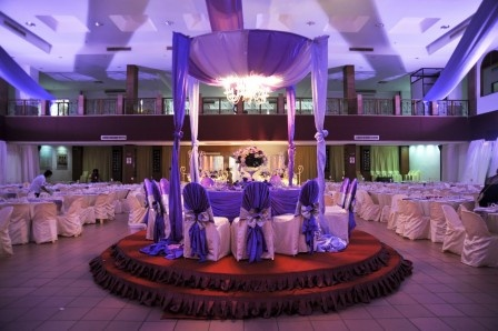 purple glamour: Weddings Venues Decoration, Church Weddings, Wedding Decorations, Decoration Idea, Weddings Tables, Purple Weddings Decoration, Idea Weddings, Weddings Receptions Decoration, Purple Receptions