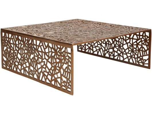 Table basse SPLENDEUR en aluminium - Coloris cuivre