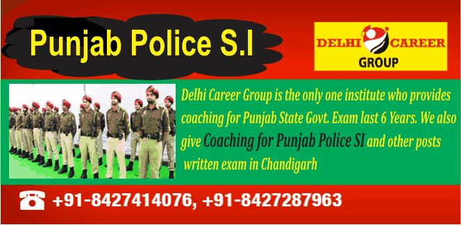 Recruitment in Punjab Police for SI is going to start soon, so you have to prepare for it with full preparation of exam, So aspirants do not waste your time book your seat now and get best Punjab Police SI Coaching in Chandigarh.