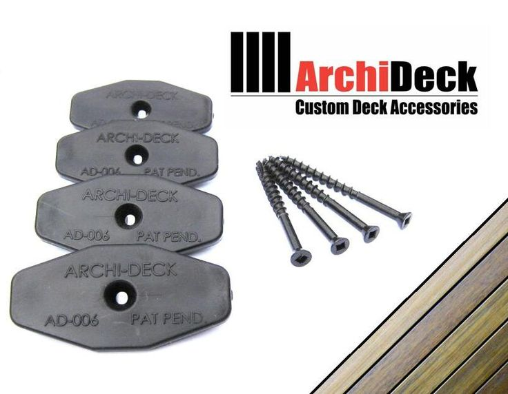 deck fixings - Archideck