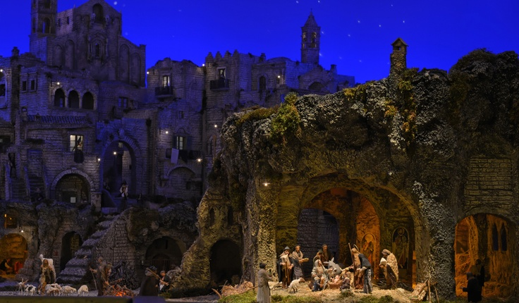 The nativity in Saint Peters square, Christmas 2012.  The setting changes every year.