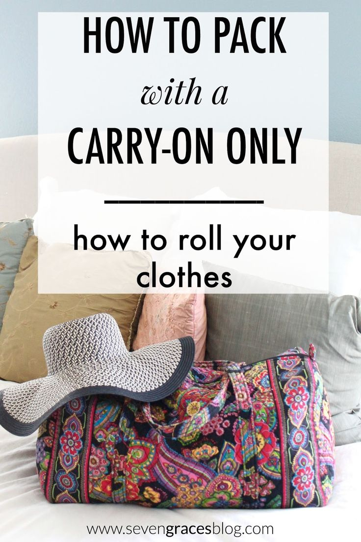 How to Pack with a Carry-On Only: Rolling Your Clothes. How to roll your clothes and travel like a boss.