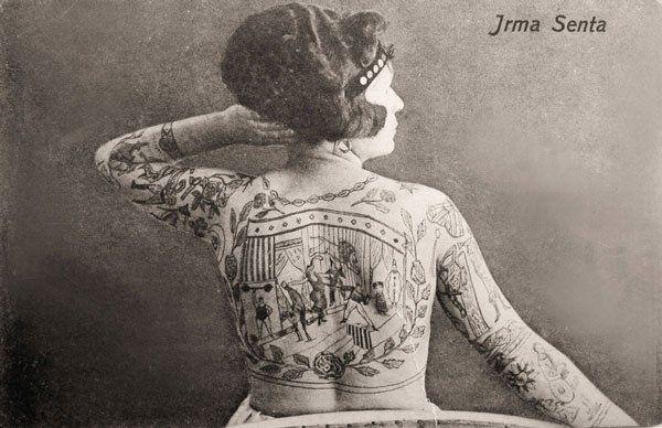 Irma Senta #Vintage #tattooed #lady #woman #tattoos #classic #InkedMagazine