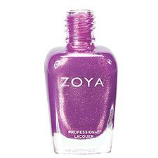 Zoya Nail Polish in Dannii – Medium orchid purple with pink and champagne highl …