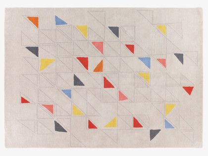 PETO MULTI-COLOURED Wool Large triangle patterned wool rug 170 x 240cm - HabitatUK