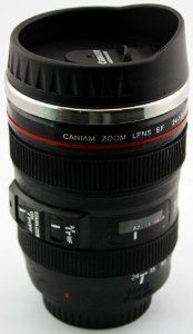 105mm Canon DSLR Camera Lens Travel Coffee Mug / Cup / Thermos , Stainless Steel Interior, Plastic Exterior  CANHUA $9.79