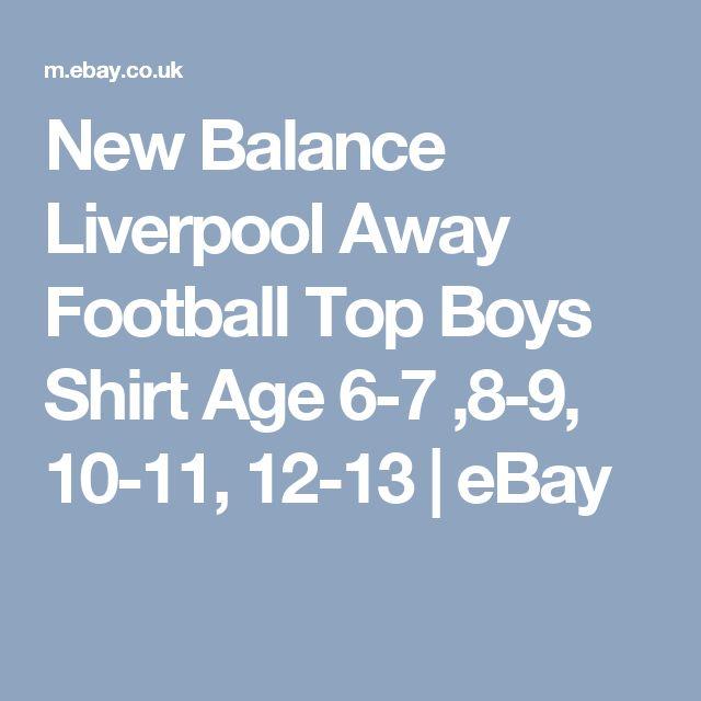 New Balance Liverpool Away Football Top Boys Shirt Age 6-7 ,8-9, 10-11, 12-13  | eBay