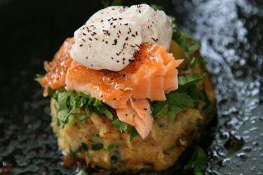 Ripe�s salmon hash cakes