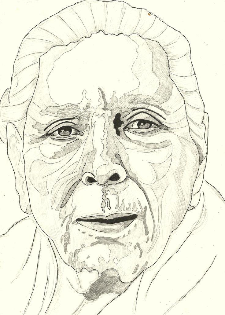 SINGER SHAMSHAD BEGUM Person sketch, Sketches