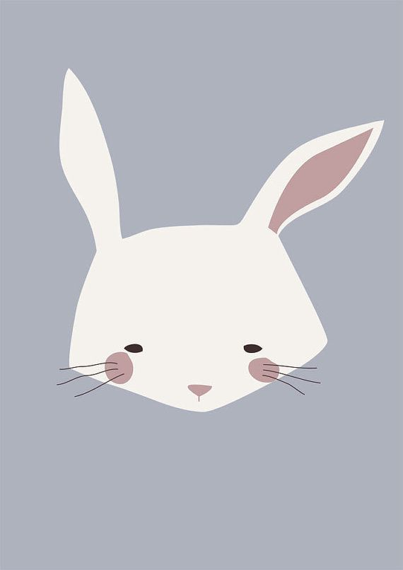 OSCAR Rabbit Print of my original illustration for kids от Buul
