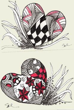 #zentangles #heart #artheart zentangles art