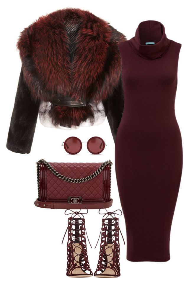 """""""Untitled #100"""" by minkstyles ❤ liked on Polyvore featuring moda, J. Mendel, Chanel, The Row y Gianvito Rossi"""