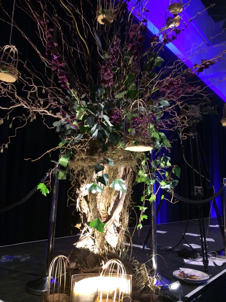 Willow and orchid trees for Styleaid 2014