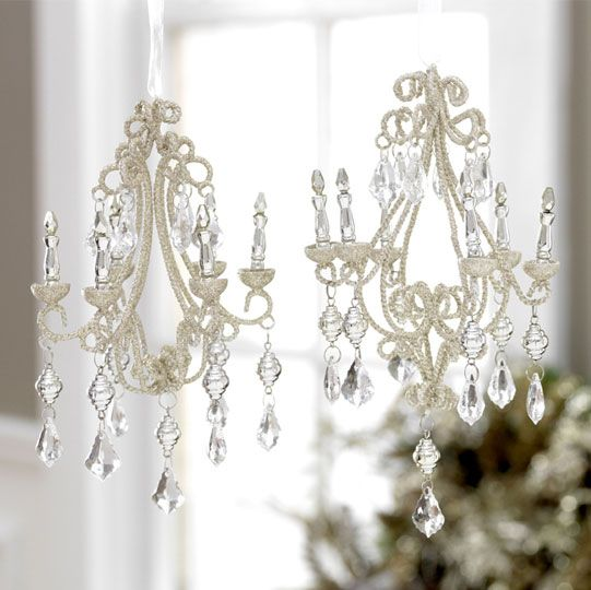Chandelier Ornaments...I Have These!! So Pretty...I LOVE