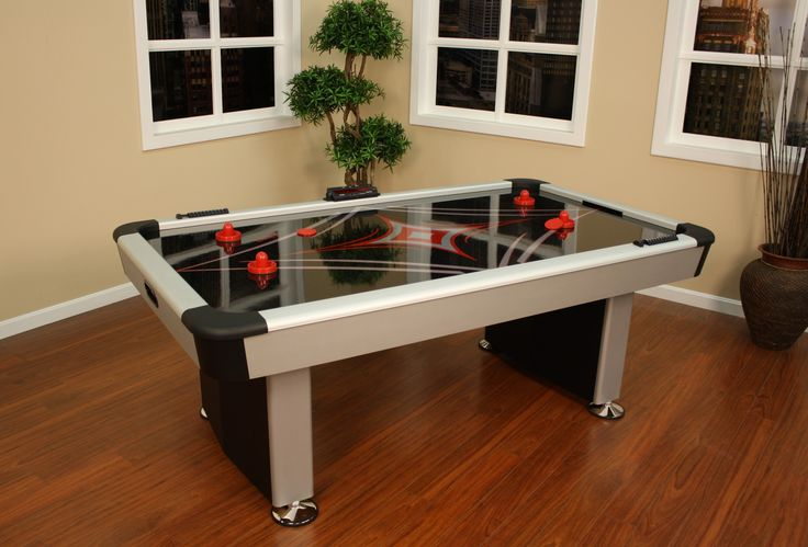 Air hockey table. Oh, yes.