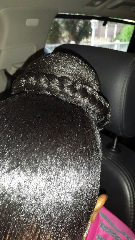Gel up with braid sew in