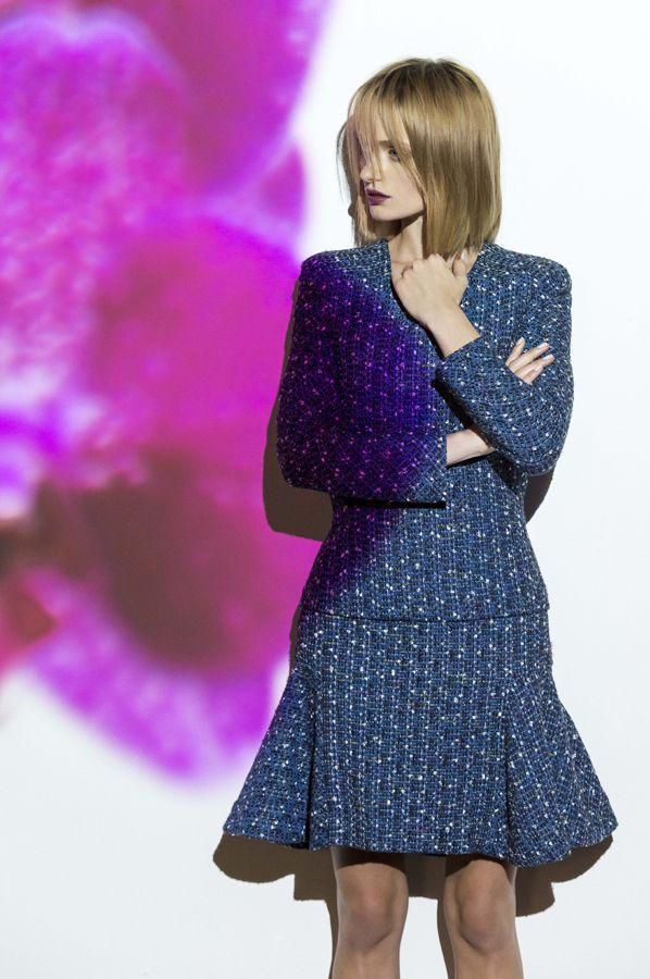 ink tweedpanel top & ink tweed trumpet skirt. www.biancaspender.com