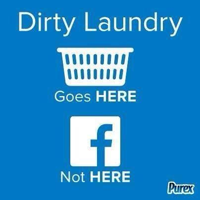 Dirty laundry on Facebook
