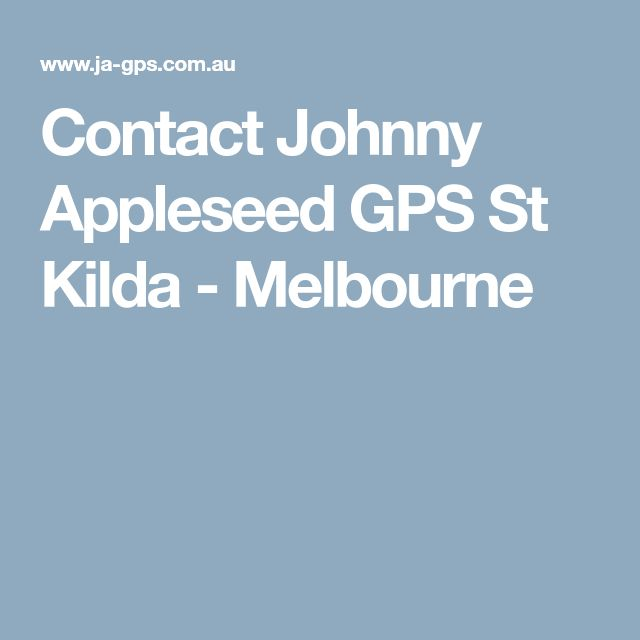Contact Johnny Appleseed GPS St Kilda - Melbourne