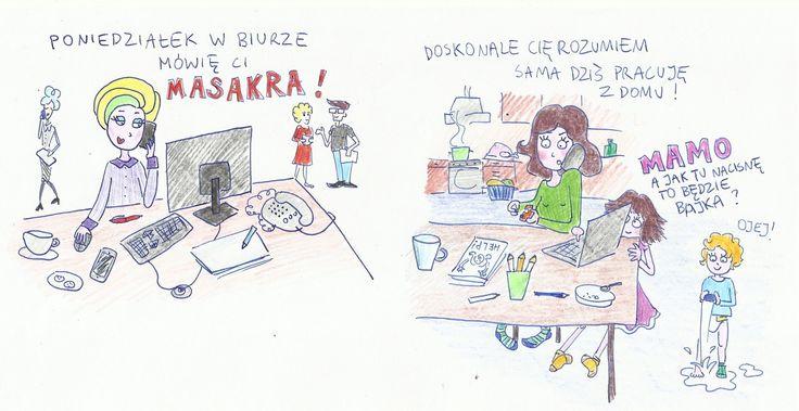 Jak pracuje Mama, która pracuje w domu? Rysuje Matka po Godzinach! www.paniswojegoczasu.pl