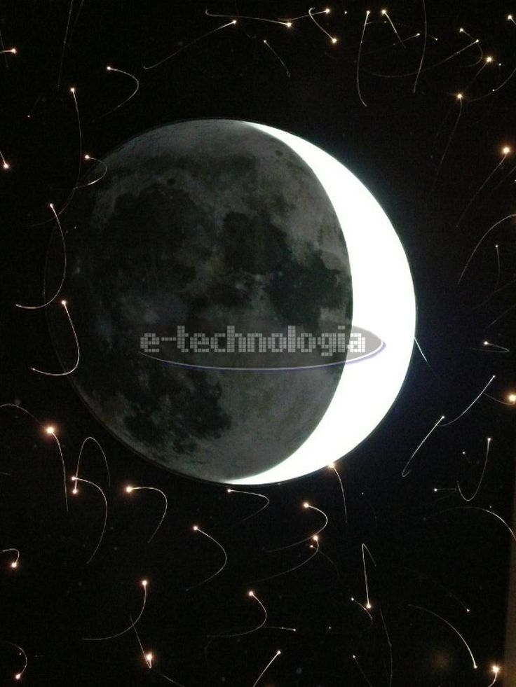 the ceiling of the moon - light on the ceiling - backlit ceiling moon - lighting ceiling - the ceiling with print - lighting to the ceiling - the moon on the ceiling - the ceiling with LED lighting www.e-technologia.pl