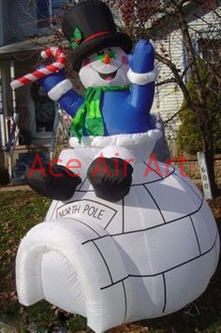 Gemmy inflatable airblown reindeer outdoor christmas decoration lowe - Inflatable Christmas Snowman With Frosty The Snow Fort For Christmas Decoration Affiliate
