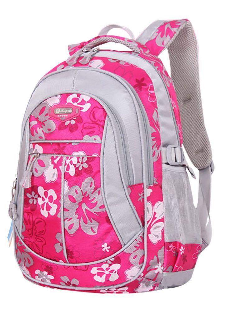SellerFun® Kid Child Girl Flower Printed Waterproof Backpack School Bag(Black,Large): Amazon.co.uk: Luggage