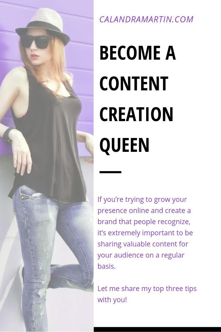 Werden Sie eine Content Creation Queen | Unternehmerin | Online-Geschäft |