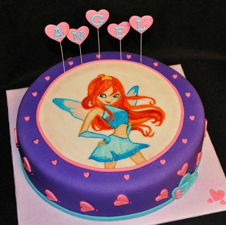 Winx Club Cake - Featuring Bloom  on Cake Central