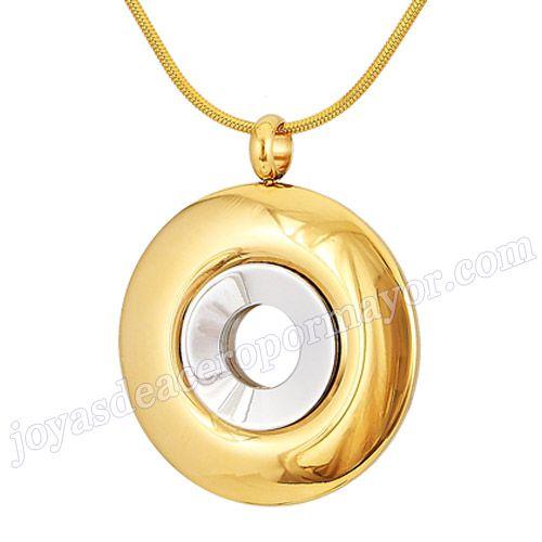 Material:Acero Inoxidable     Nombre: Colgante oro de acero con doble circulo     Talla: 35*6mm     Weight: 26.2g     Model No.: SSPT285   Color:Per Picture .     Con Cadena:No     Nombre de Marca:BaoYan Joyas
