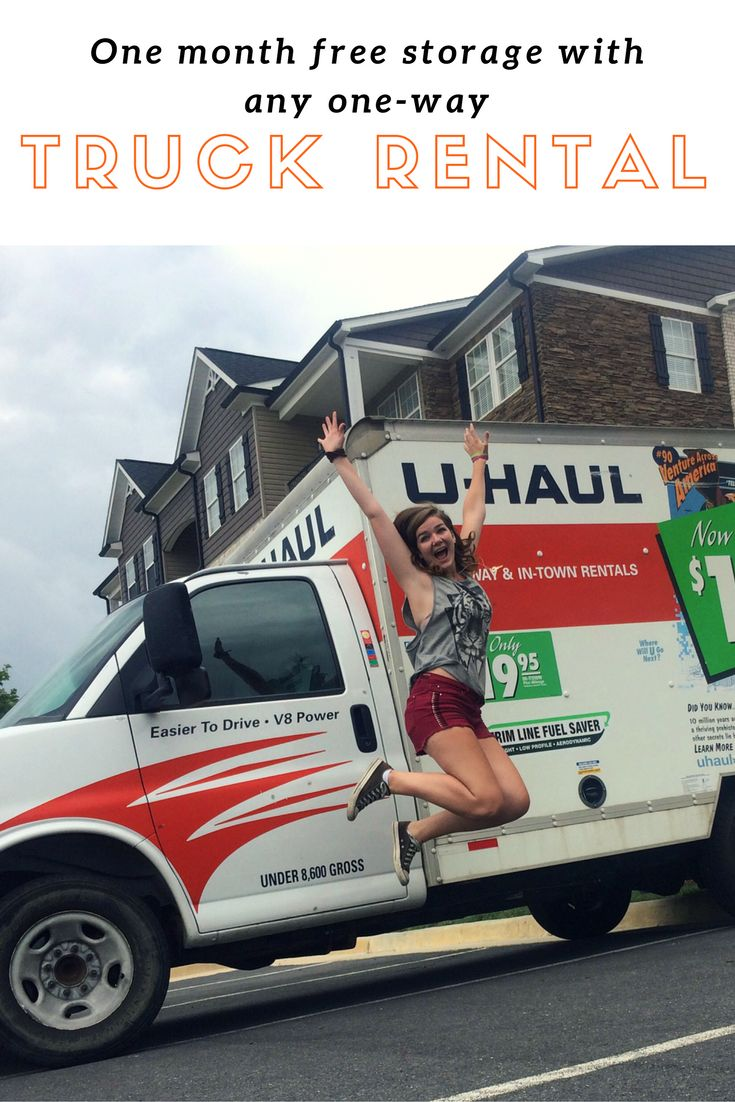 If you rent a oneway uhaul truck for your move