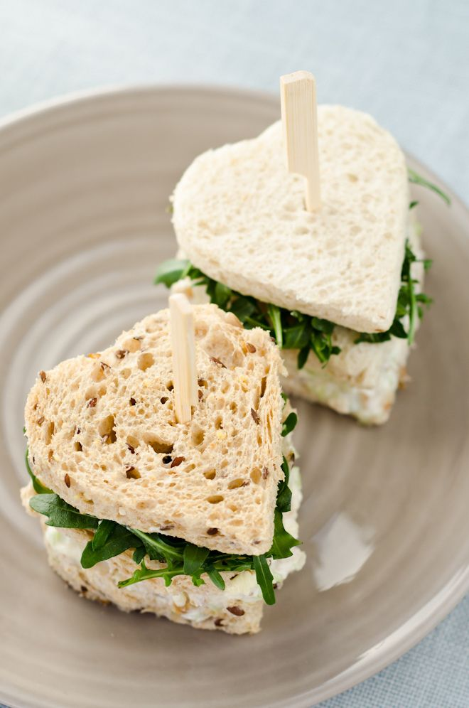 Heart-shaped Waldorf salad sandwich | Flickr - Photo Sharing!