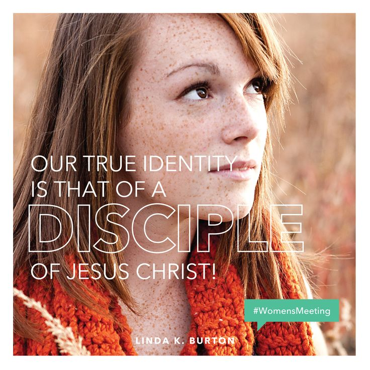 """""""Our true identity is that of a disciple of Jesus Christ!"""" —Linda K. Burton #WomensMeeting"""