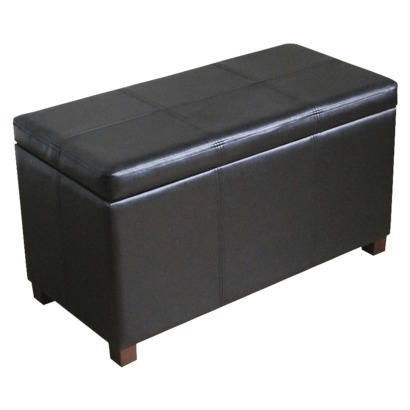 Black Double Storage Ottoman Bench For The Crib Pinterest Toys Boxes And Leather