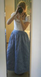 Tenez Ferme - historical costuming. Making of an 18th century quilted petticoat
