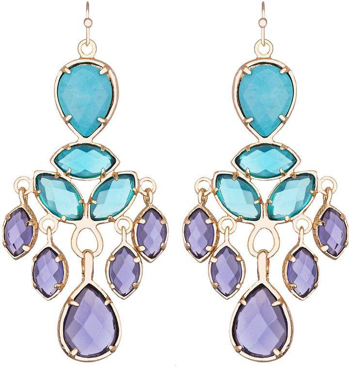 Kendra Scott Mona Chandelier Earrings, Iris/Multi on shopstyle.com