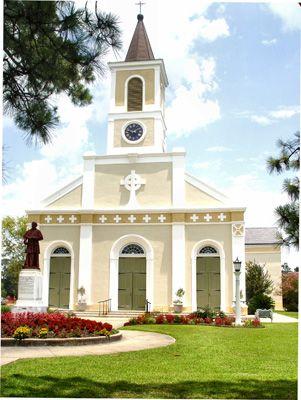 St. Martin De Tours Catholic Church, Louisiana.  My family is buried behind this beautiful church.